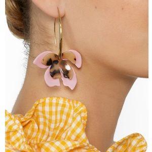 baublebar cherry blossom resin drop earrings